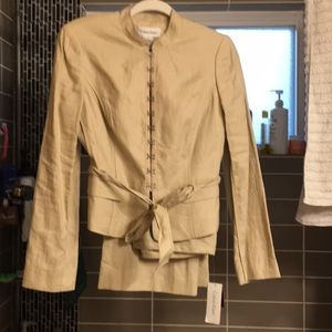 Calvin Klein silk & linen 2pc pant suit